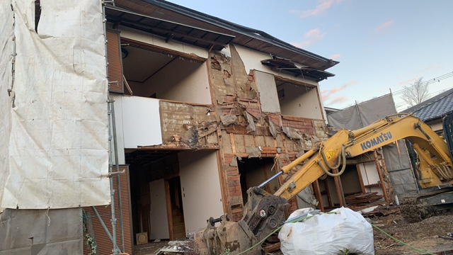 土岐市泉が丘で解体工事2